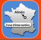 La zone d'intervention d'Alinéo